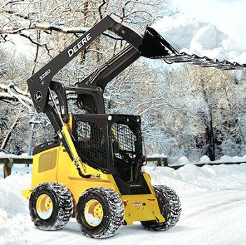 Погрузчики в роли техники для уборки снега