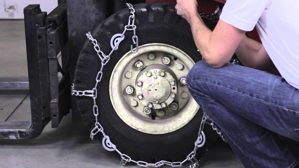установка цепей на колеса